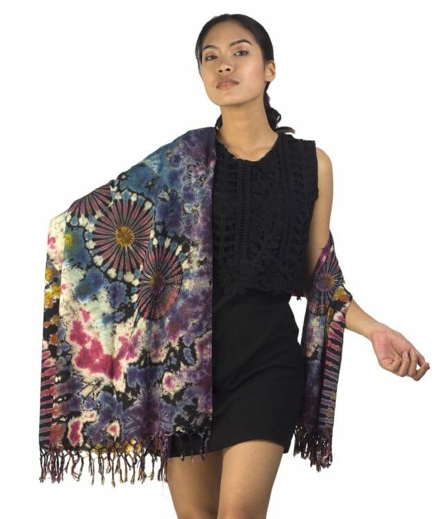 Mixed Color Tie Dye Sarong