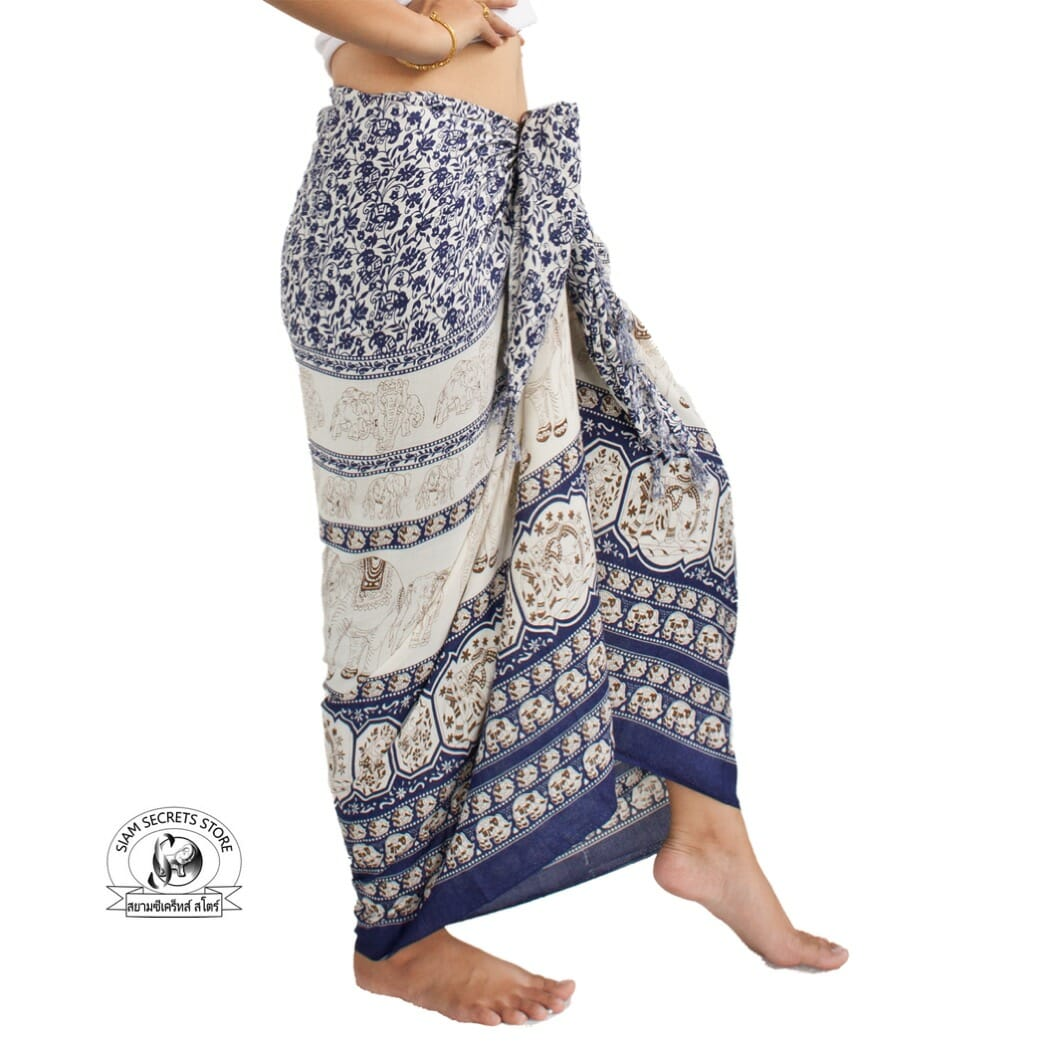 d6908cb165 Indigo Sarong Unisex Elephant Beach or Spa Wrap ⋆ Siam Secrets Apparel