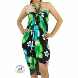 Green Flower Sarong