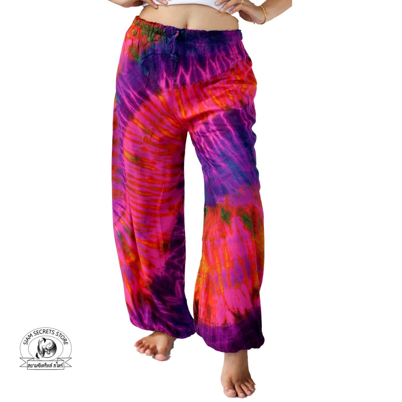0c4d52b7cd Pink Rainbow Tie Dye Pants Beach or Yoga Wear ⋆ Siam Secrets Apparel