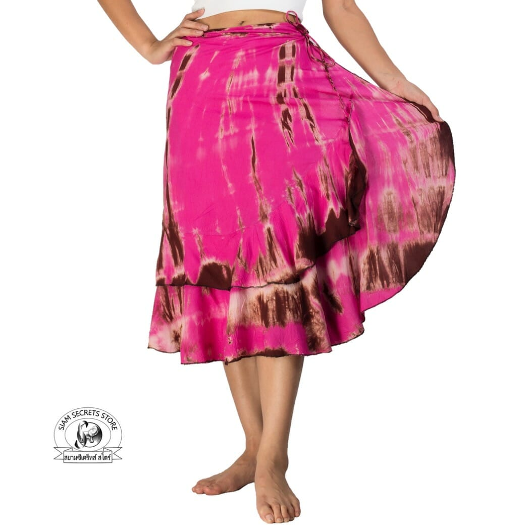 Tie Dye Wrap Skirt Dress